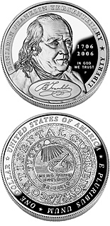 1 dollar coin Benjamin Franklin (Founding Father) | USA 2006