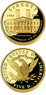 5 dollar coin San Francisco Old Mint | USA 2006