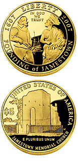 5 dollar coin Jamestown 400th Anniversary | USA 2007