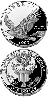 1 dollar coin Bald Eagle | USA 2008