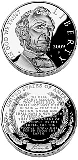 1 dollar Abraham Lincoln - 2009 - Series: Commemorative silver 1 dollar coins - USA