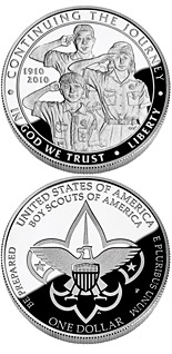 1 dollar coin The 2010 Boy Scouts of America Centennial | USA 2010