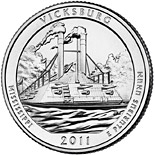 25 cents Vicksburg National Military Park, MS  - 2011 - Series: America the Beautiful Quarters - USA