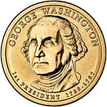 1 dollar George Washington (1789-1797) - 2007 - Series: The Presidential 1 Dollar Coins - USA