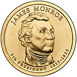 1 dollar James Monroe (1817-1825) - 2008 - Series: The Presidential 1 Dollar Coins - USA