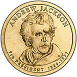1 dollar Andrew Jackson (1829-1837) - 2008 - Series: The Presidential 1 Dollar Coins - USA