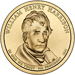 1 dollar William Henry Harrison (1841) - 2009 - Series: The Presidential 1 Dollar Coins - USA
