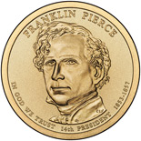 1 dollar Franklin Pierce (1853-1857) - 2010 - Series: The Presidential 1 Dollar Coins - USA