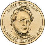1 dollar James Buchanan (1857-1861) - 2010 - Series: The Presidential 1 Dollar Coins - USA